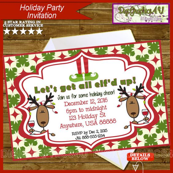 Holiday cheer christmas party personalized by digigraphics4u etsy