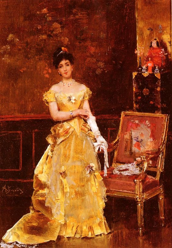 Art Renewal Center :: Alfred Stevens :: Preparing For The Ball: