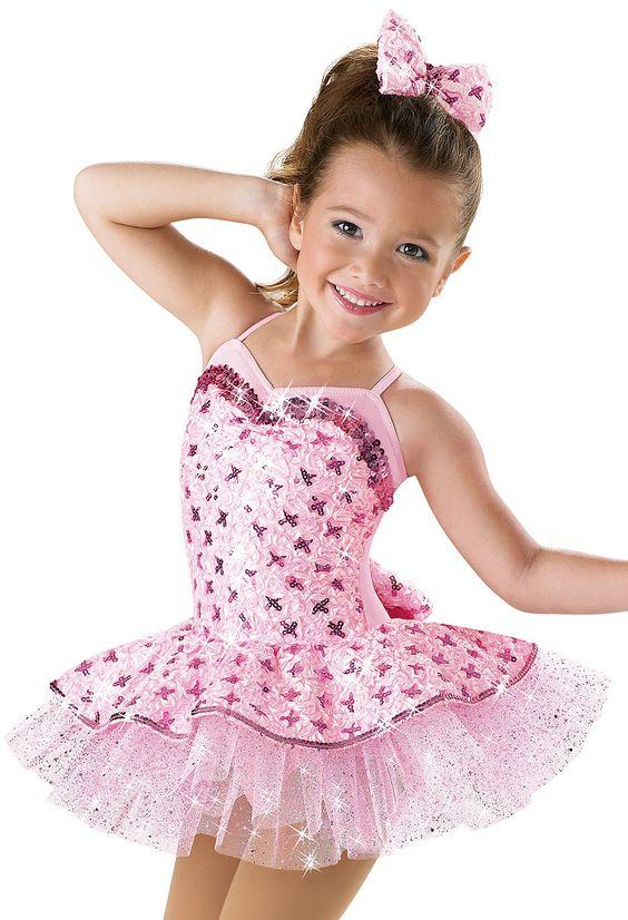 Pink Satin Sequin Dance Dress -Weissman Costumes