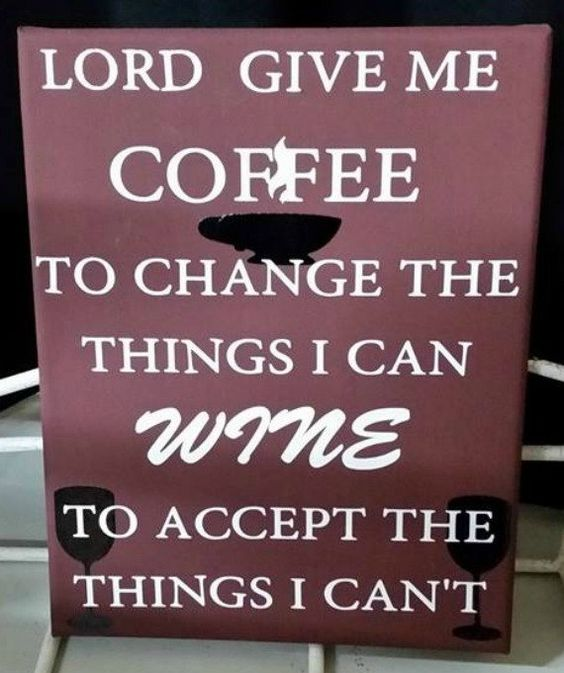 Coffee and Wine Canvas by AquagraphicsandVinyl on Etsy
