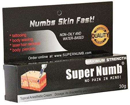 Super Numb Anesthetic Skin Numbing Cream