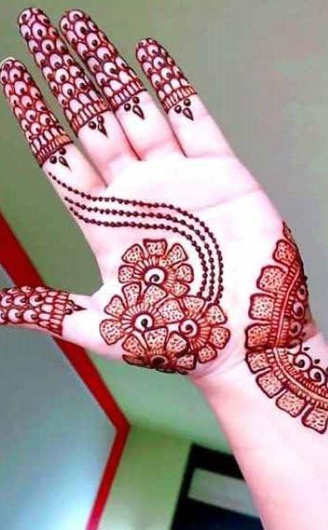 fancy baby hand mehndi design