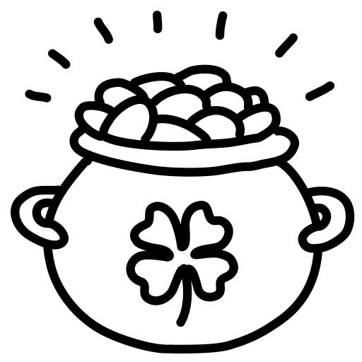 Pot Of Gold Coloring Pages Coloring Pages Pot Of Gold Coloring