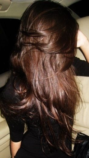 Thick and luscious brunette hair.