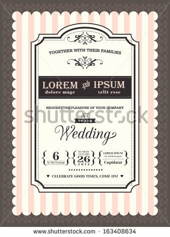 something like this in blue vintage wedding invitation border and