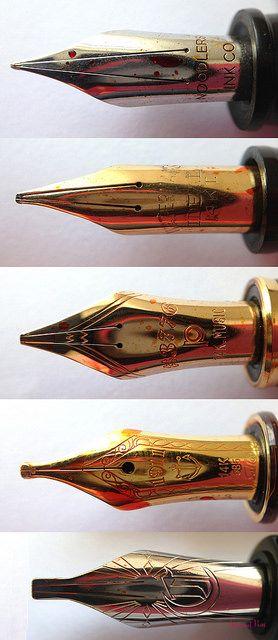 Music Nib Comparisons Large Fountain Pens Pinterest
