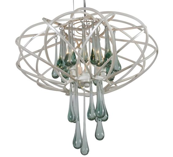 Varaluz 151C03 3 Light Pendant from the Area 51 Collection Pearl Indoor Lighting Pendants Cage
