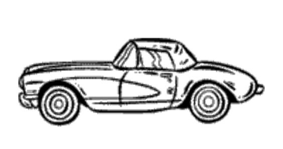 corvette coloring page - corvettes corvette c7 and coloring pages on pinterest