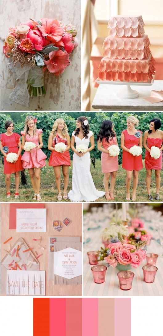 Coral wedding inspiration: