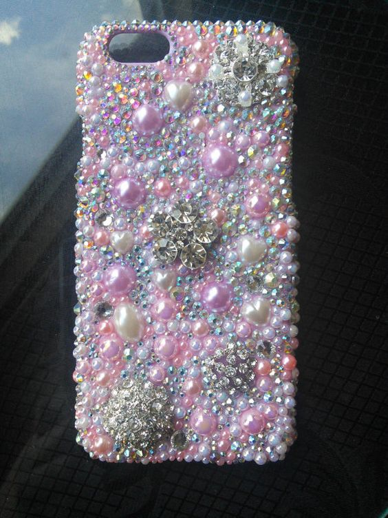 Bling Phone Case Iphone 6 Case Crystal Phone by TyyonCreations