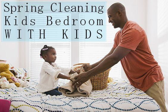 Spring Cleaning Kids Bedroom With Kids