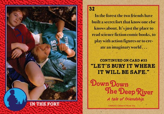 Down Down The Deep River - sample trading card