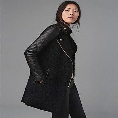 Women's PU leather Sleeve Coat - USD $ 29.39