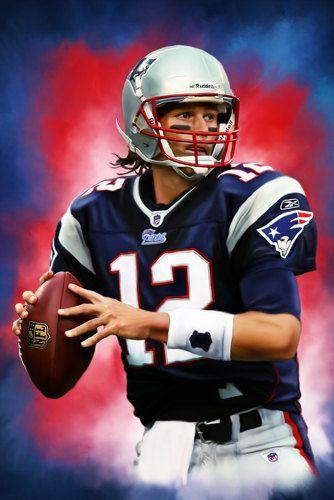 FREE SHIPPING: New England Patriot's Tom Brady by ArtWrenchDotCom ...