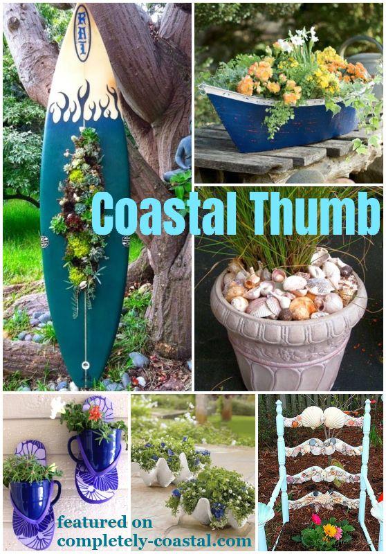 Awesome Coastal Nautical Planters Garden Plants Design Porch