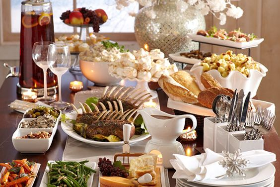 More than an appetizer but more elegant than a buffet for Appetizer decoration