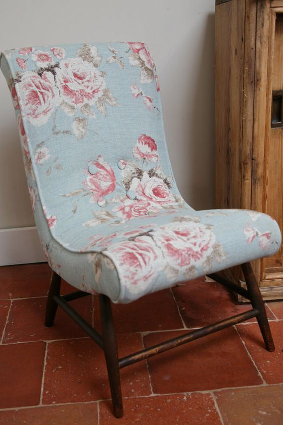 SOLD  Super Cute 1960's Slipper Chair by greengagevintage on Etsy, £165.00