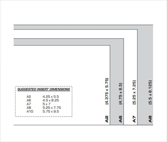 A7 Envelope Sizes Chart Template Envelope Liners Pinterest - sample a7 envelope template