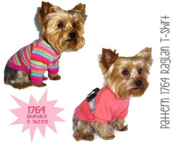 Dog Tee Shirt Pattern 1764  Bundle 3 Sizes  Dog by SofiandFriends