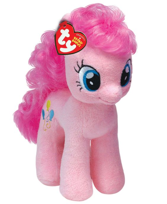 pianosetclaviers  Ty  TY90200  My Little Pony  Peluche Pinkie Pie 30 cm