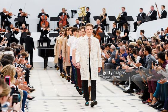 Models walk the runway at the #Burberry Prorsum show during The London Collections Men SS16 at Kensington Gardens (Photo by Tristan Fewings) | #fashion #runway #men #UK #London