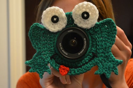 Frog Camera Lens Buddy with Squeaker by EmmaGraceDesigns4 on Etsy