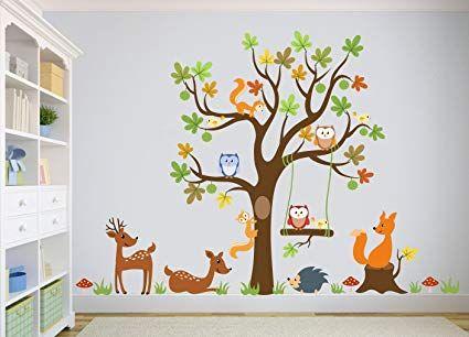 Wandtattoo Kinder Babyzimmer Aufkleber Eule Eulen Wandsticker Wand Waldtiere Kinderzimmer Wan Wandtattoo Kinder Babyzimmer Aufkleber Wandaufkleber Kinderzimmer