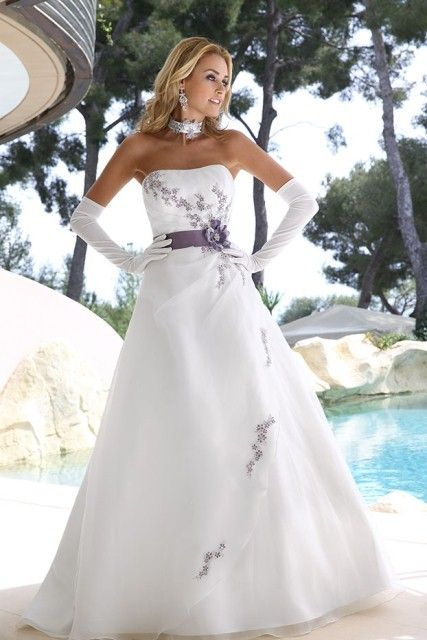 Purple And Ivory Wedding Dresses : Love this ivory purple wedding dress by ladybird bridal