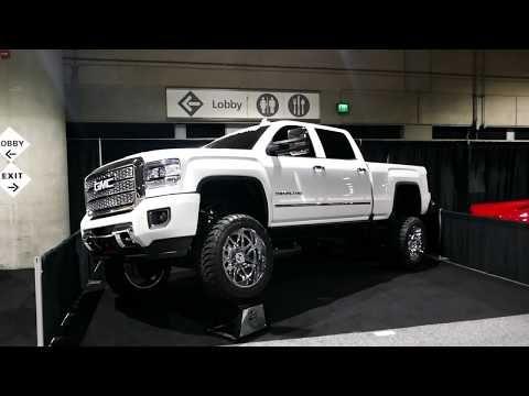 New Custom 2019 Gmc Denali Hd Truck Hostile Chrome Wheels 2018