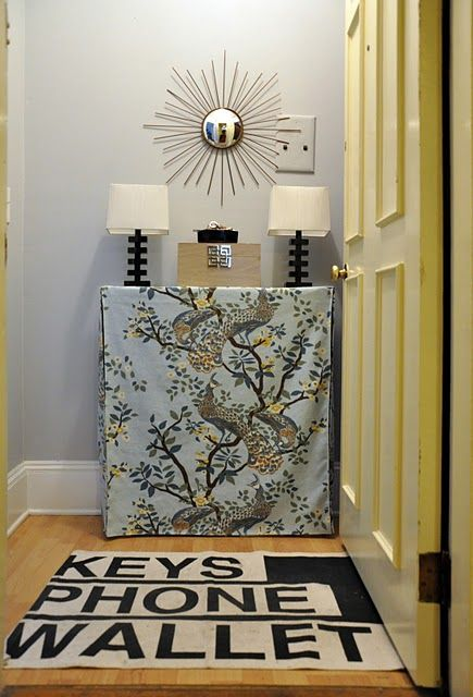 cute DIY rug idea
