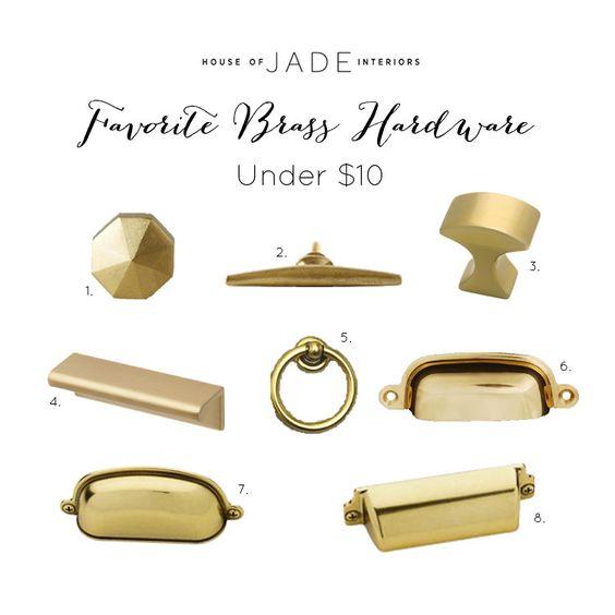 Jade Lee Kitchen: Favorite Brass Hardware Under $10