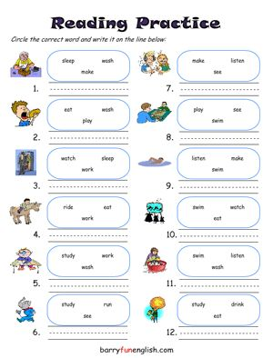 math worksheet : barryfunenglish  fun esl classroom games custom worksheets  : Kindergarten Reading Comprehension Worksheets Free