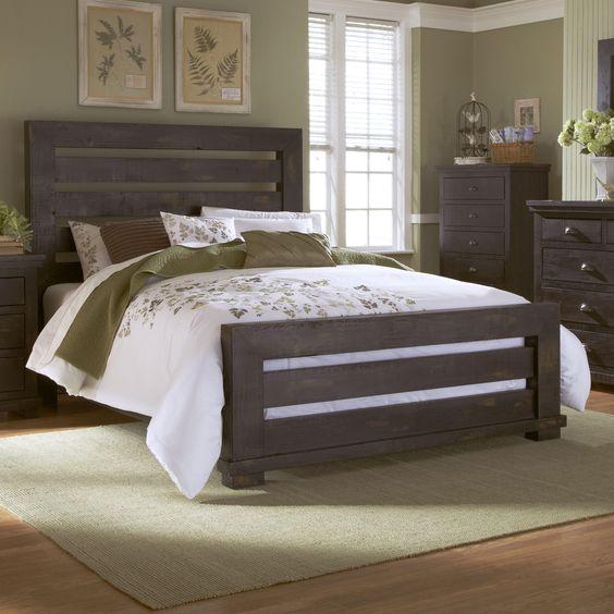 willow queen slat bed by progressive furniture