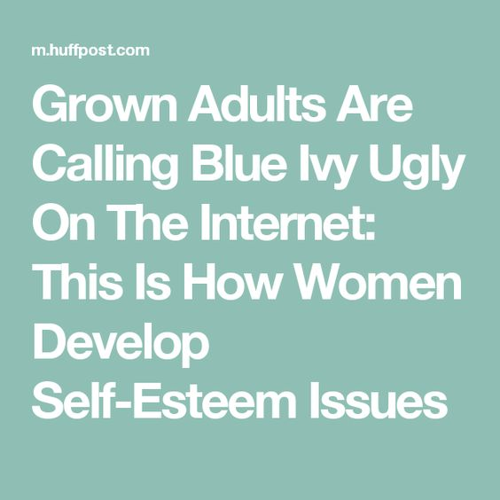 Grown Adults Are Calling Blue Ivy Ugly On The Internet: This Is How Women Develop Self-Esteem Issues