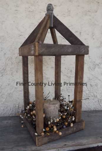 Large Tobacco Lathe Lantern.  www.FineCountryLivingPrimitives.com