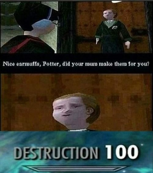 Ps1 Malfoy Was Savage Af Follow Us For More Video Gaming Related Posts Draco Malfoy Funny Funny Memes Harry Potter Funny