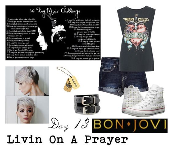 """""""Day 13: Livin On A Prayer"""" by jesssp17 ❤ liked on Polyvore featuring Converse"""