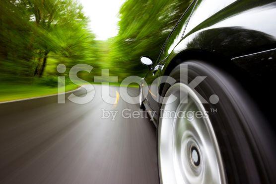 Sport Auto Wald Kurve. – lizenzfreie Stock-Fotografie
