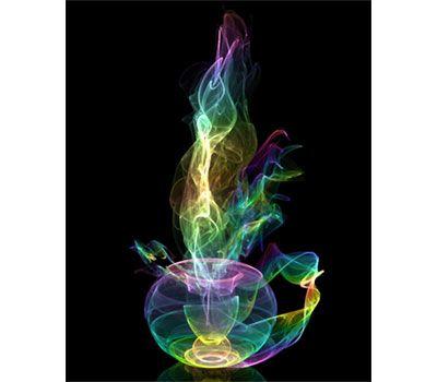 colorful tea pot