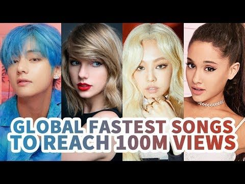Top 30 Fastest Songs To Reach 100 Million Views On Youtube History Youtube Songs Top 30 Songs History Youtube