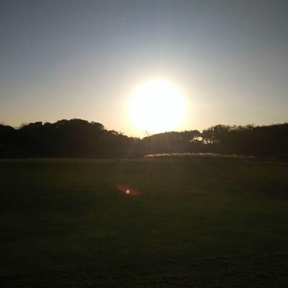 Sunrise over The Bluffs Ho Tram Strip #golf #caddie #tourlife #golfcourses #hotramopen