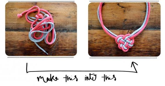 Cute DIY knot necklace
