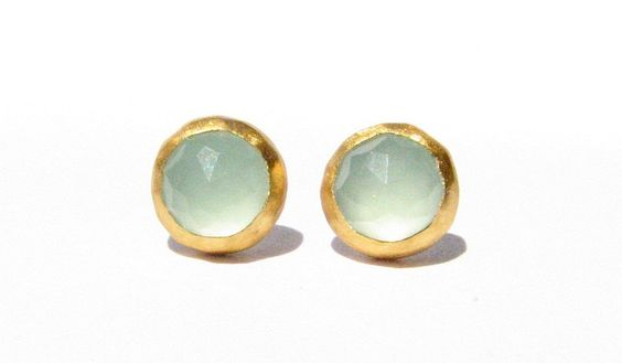 Rose Cut Chalcedony earrings - wow these are pretty.  love chalcedony - k