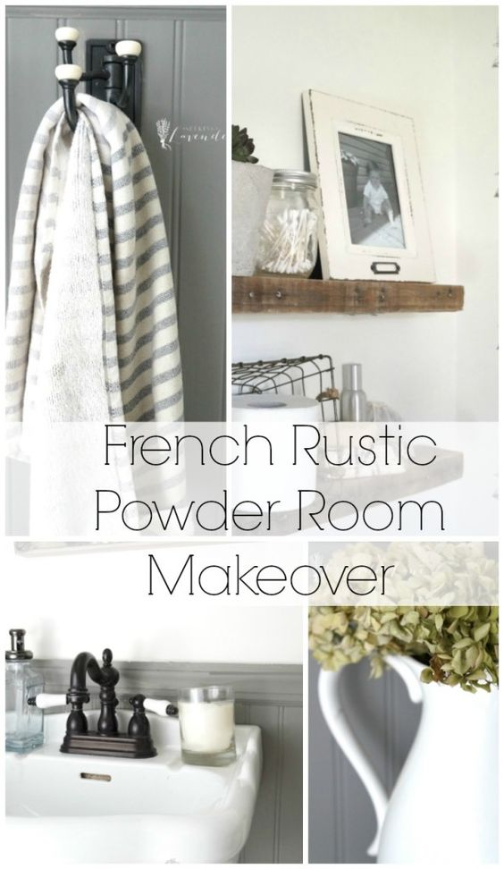 French Rustic Powder Room Makeover