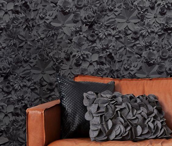 Papel de parede preto - ideias e sugestões ~ Decoração e Ideias | casa e jardim