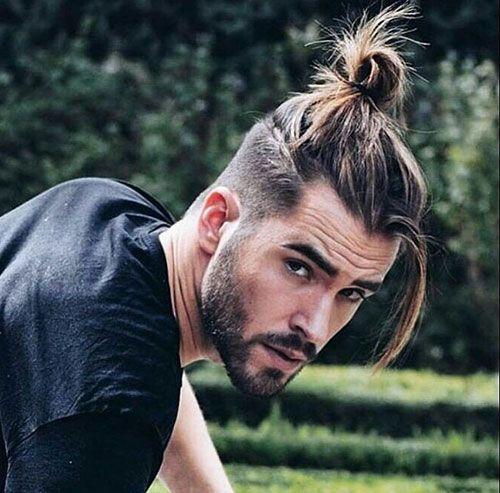 Man Bun The Best Guide For Men How To Gallery In 2021 Man Bun Hairstyles Long Curly Hair Men Curly Hair Men