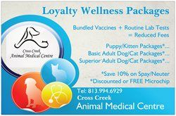 Loyalty Wellness Plans at Cross Creek Animal Medical Centre