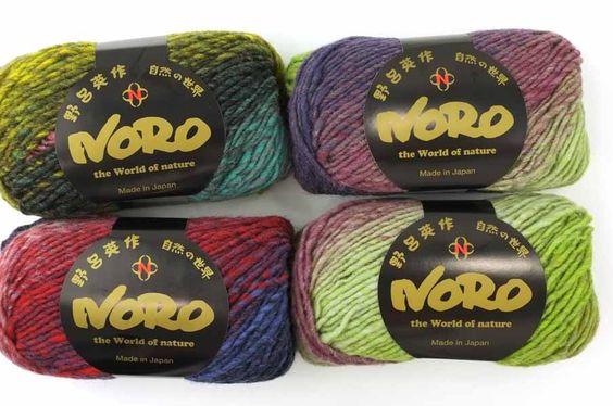 Noro Kureyon, 100% wool, color 379, red, kiwi, pink, teal