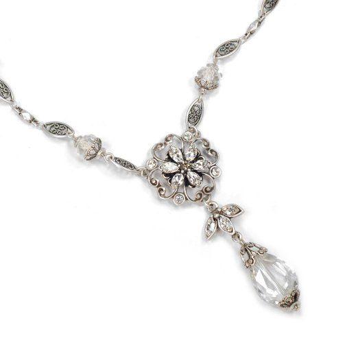 Pointe Flower Long Pendant Necklace