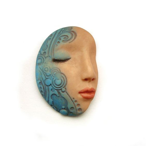Blue Water Goddess Dream Face Cab Teal Sleeping by graphixoutpost, $9.50